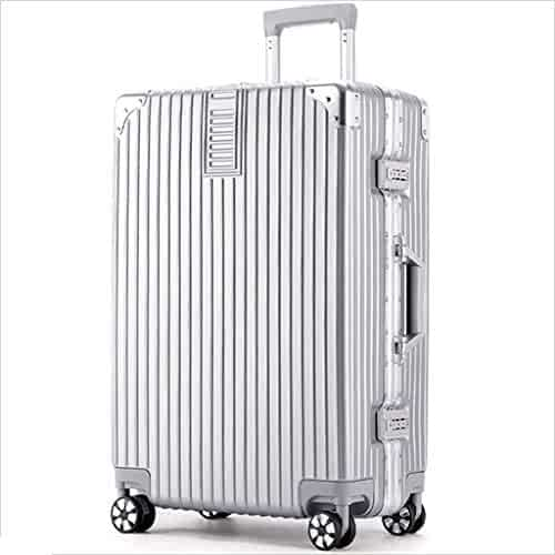 Color : Dark Blue, Size : 20 inches55x30x20cm Bag Luggage Lightweight Hard Shell 4 Wheel Travel Trolley Luggage Suitcase Hand Luggage Hand Luggage suitcases 20, Silver Gray