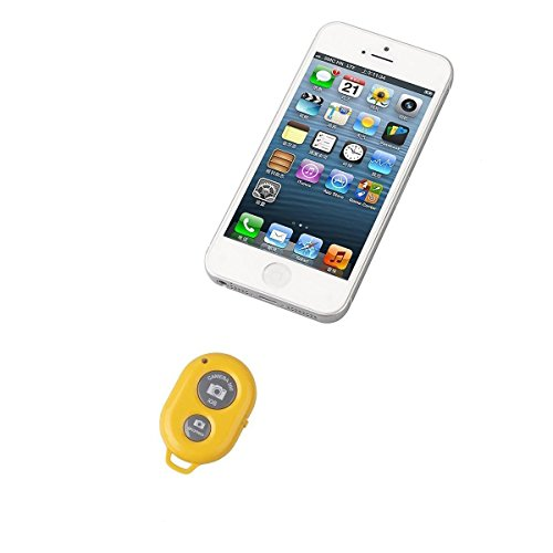 Generic Bluetooth Wireless Remote Control Camera Shutter Release Self Timer for IOS Android Smartphone Tablet Iphone6 5 5s 5c 4s 4, Ipad 5 4 3 Ipad Air Mini, Sony Xperia, HTC New One and X, Samsung Galaxy S3 S4 S5 Note 1 2 3 Galaxay Tab 2 Note8 10.1, Google Nexus 4 5 7 (Yellow)