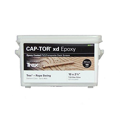 (Deckfast CAP-TOR xd Epoxy Capstock + Composite Screw 350 Pack #10 x 2-3/4