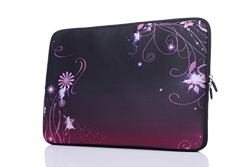 15-15.6 Inch Laptop Sleeve Case Handle Bag Neoprene Cover, Classic Purple