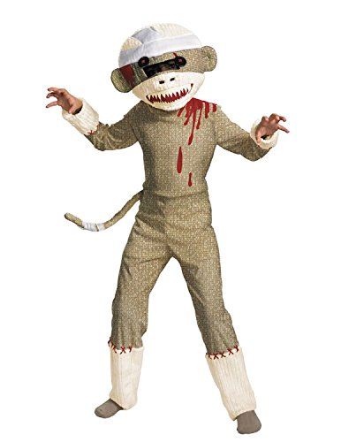 Monkey Halloween Costume Pirate Sock (Zombie Sock Monkey Costume -)