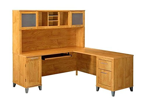 Bush Double Pedestal Desk Bsh6372csa1 03 72 Inch By 30