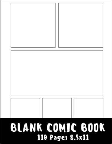 Blank Comic Strip : Blank Comic Book - 8.5X11 With 6 Panel Basic