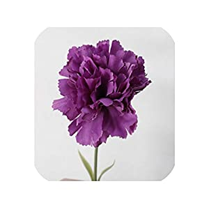 loveinfinite 5Pcs Carnation Artificial Flower DIY Scrapbooking Fall Home Decoration Table Accessory Fake Flowers Wreath,D,5 Pieces 74