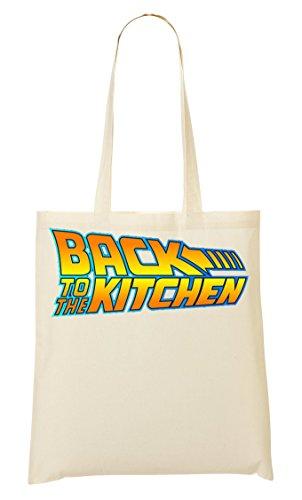 Back To The Kitchen Movie Fashioned Slogan Sac Fourre-Tout Sac À Provisions
