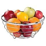 InterDesign 59970 Axis Fruit Bowl for Kitchen Countertops Chrome