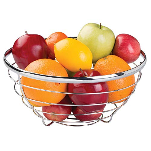 InterDesign Axis Metal Fruit Bowl Centerpiece for Kitchen and Dining Room Countertops, Tables, Buffets, Refrigerators 12