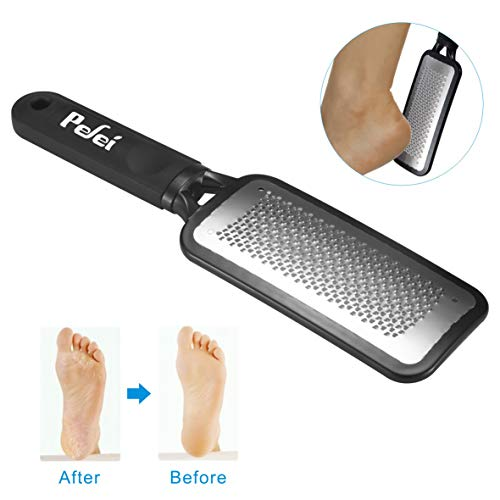 Colossal Foot Rasp Foot Files Callus Remover, Professional Foot Care Pedicure Stainless Steel File to Removes Hard Skin, Can Be Used On Both Dry and Wet Feet ()