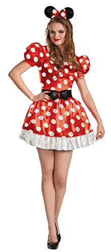 Disguise Women's Red Minnie Mouse Classic Costume, Red/Black/White, Small for $<!--$22.21-->