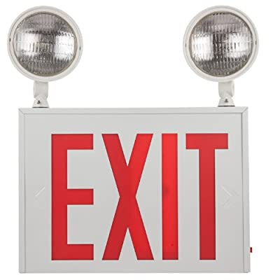 Sunlite 04306-SU EXIT/SU/1F/R/W/COMBO/3H/NYC Exit-Emergency Light Combo Exit Light