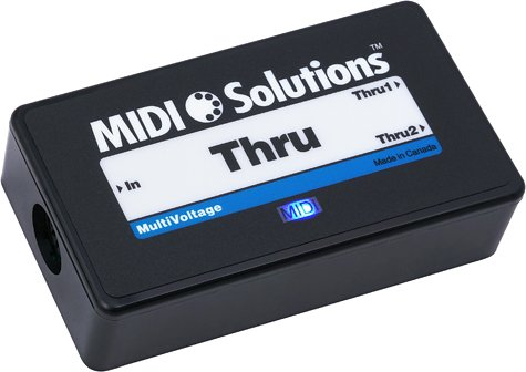 MIDI Solutions 2-Output Active MIDI Thru Box by MIDI Solutions