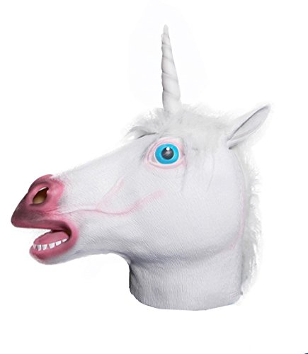 Youtumall Halloween Mask Latex Brown Horse Head Mask For Party Halloween Costume (Unicorn)