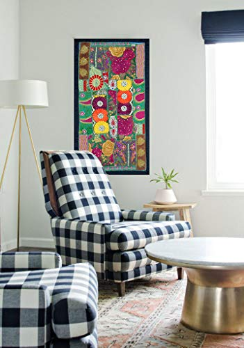 - HANDMADE BOHEMIAN PATCHWORK RUNNER WALL HANGING EMBROIDERED VINTAGE TAPESTRY