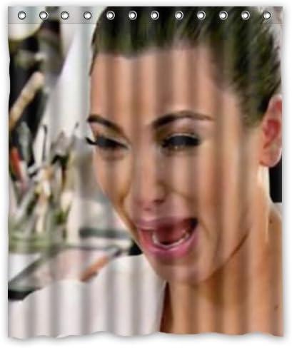Kim Kardashian and Emily Ratajkowski Custom Bathroom Shower Curtain 60x72 Inches