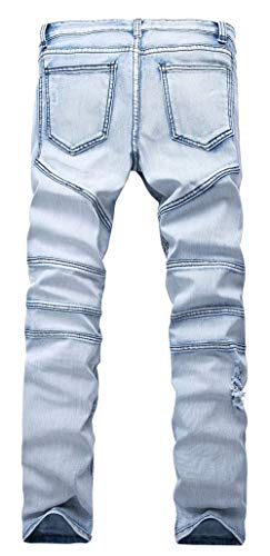 Pantalones Hellblau1 Hombres Pantalones Vaqueros Lannister Skinny Fashion Los De Ajustados Elásticos Destruidos Pantalones Pantalones Vaqueros Ajustados De Los Vaqueros Delgados Delgados Hombres wgw1Oq