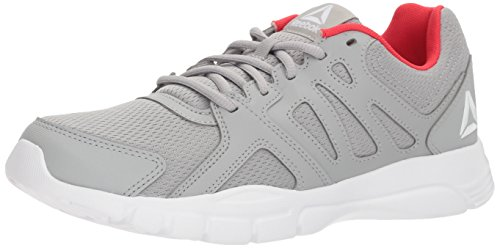 Reebok Men's Trainfusion Nine 3.0 Sneaker, Stark Grey/White/Primal red, 11.5 M US