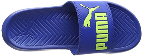 Puma Unisex-Kinder Popcat Jr Badeschuhe Blau (Turkish Sea-Fizzy Yellow)