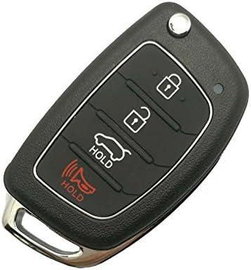 Amazon.com: Carcasa para llave de coche para Hyundai Sonata ...