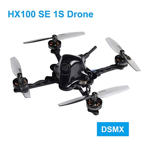 BETAFPV HX100 SE DSMX 1S Brushless Toothpick Drone Carbon Fiber with F4 1S Brushless FC V2.1 M01 AIO Camera OSD Smart Audio 25mW VTX 1102 13500KV Motor for Freestyle FPV Racing