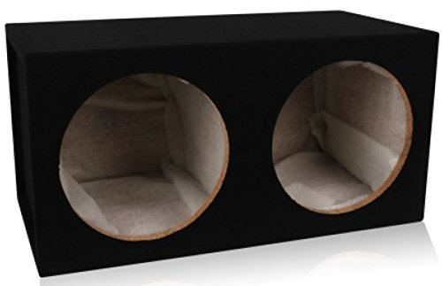 Belva Dual 12-inch Car Subwoofer Box Sealed 3/4-inch MDF Prelined Polyfil [MDFD12] ()