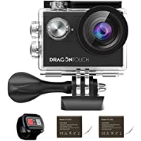 Dragon Touch 4K EIS Action Camera 16MP Vision 4 Support...