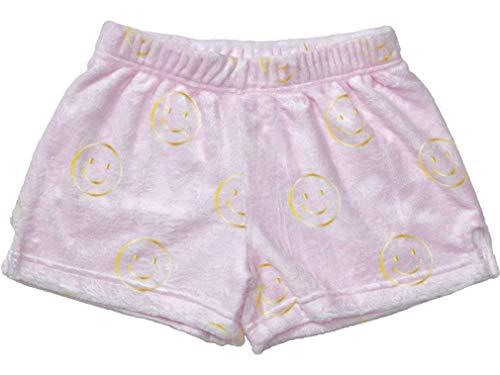 - iscream Big Girls Silky Soft Print Plush Shorts - Golden Smile, Small (6/8)