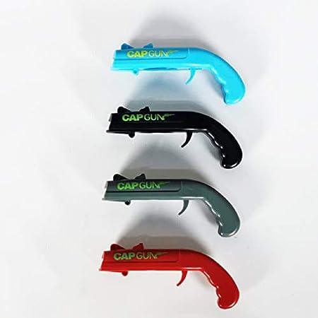 XINYA BAO Cap Gun/Abrebotellas 2 unidades Abrebotellas pistola, adecuado para familias, bares, fiestas, bebidas y juegos divertidos 4 colores (azul)