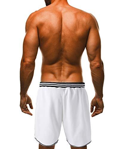 sport sport Shorts 2 de loisir Respirant Pantalon jogging Modchok Entraînement de Blanc de Shorts de qSVpUGzM