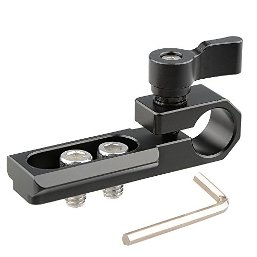 CAMVATE 15mm Single Rod Clamp with NATO Rail(Black)