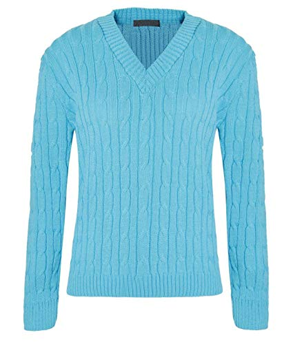Femme Unique Taille Turquoise 21fashion Manches Pull Longues Vert gxgqtaw