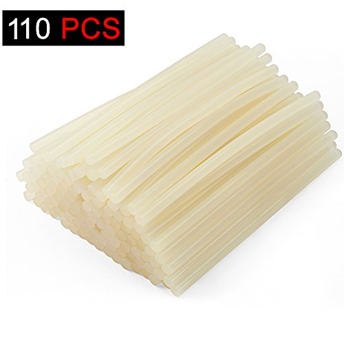 Metronic Hot Melt Glue Sticks 7/16x10 inch 110/ Pack Sticks All Purpose for Industrial, Home, Arts & Crafts and Quick - Acetate Resin