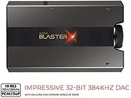 CREATIVE Tarjeta de Sonido USB Externa y DAC para Juegos HD Sound BlasterX G6 7.1 con Amplificador de Cascos Xamp para PS4, PC, Xbox, Nintendo Switch ...