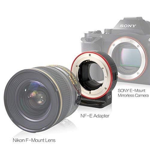 Aoda EC-SNF-E(S) Mount AutoFocus Adaptor Ring Lens Adapter Nikon G Mount Lens to Sony E Mount Full Frame Cameras