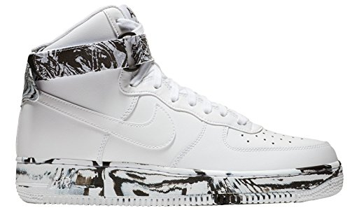 1 Force Lthr 100 Nike At3293 White White '07 Mens black Lv8 High Air wgxEHp