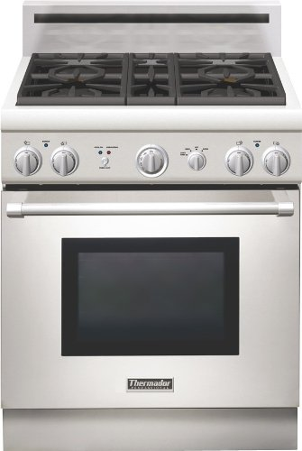 (Thermador Pro Harmony : PRG304GH 30 Pro-Style Gas Range - Stainless Steel)
