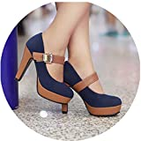 Best Minitoo Platform Heels - High Heels Women Platforms Stiletto Pumps Flock Round Review