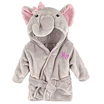 Personalized Baby Bathrobe -Custom Monogram Name Embroidered Gift Present  Infant Baby 3c03982d5