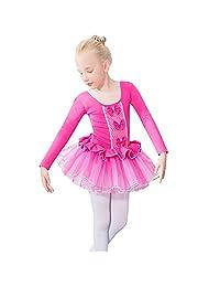 Lisianthus Girls' Gymnastics Tutu Ballet Leotard Dress