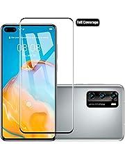 XINKOE [قطعتان في العبوة] واقي شاشة لهاتف Huawei P40 Pro, Ultra Slim HD 2.5D Pro-Fit واقي شاشة من الزجاج المقوى الممتاز