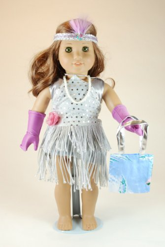 Unique Doll Clothing Flapper Doll Dress for 18