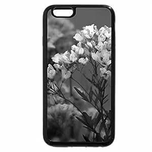 iPhone 6S Plus Case, iPhone 6 Plus Case (Black & White) - Blue Flowers