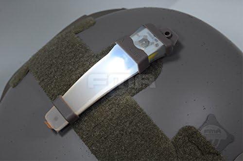 ATAIRSOFT Casque s/écurit/é H414 V-Lite Sac /à LED E-Lite lumi/ère stroboscopique Lampe Torche Tactique de Base pour ext/érieur Airsoft Chasse Camping Bleu
