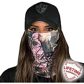SA Company - Protector Facial de Microfibra para Proteger del Viento, la Suciedad y los Insectos, Rosa Bosque Camuflaje, N/A