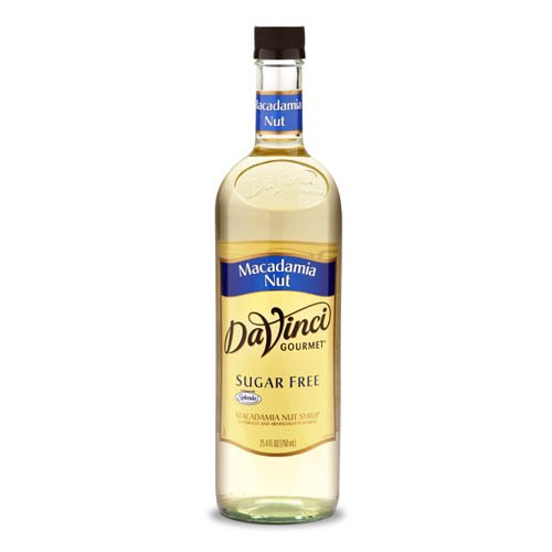 Da Vinci SUGAR FREE Macadamia Nut Syrup with Splenda, 750mL Da Vinci Macadamia Nut