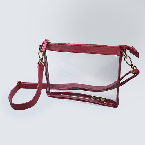 Pga Shoe Bag (Capri Designs Clearly Fashion Stadium Collection Clear Small Crossbody Meets Stadium Requirements)