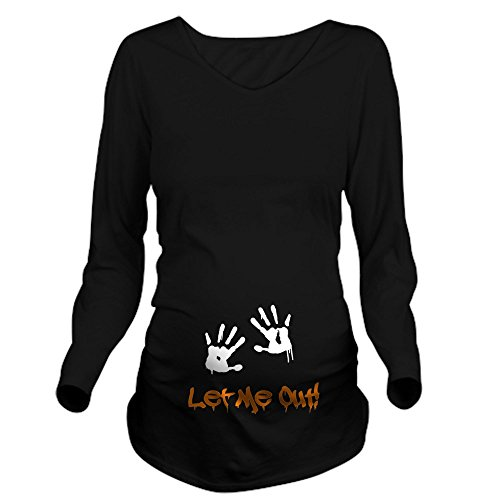 CafePress Let Me Out! Long Sleeve Maternity T Shirt Long Sleeve Maternity T-Shirt, Cute and Funny Pregnancy Tee -