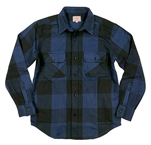 インタビューチャレンジおしゃれな(BIG MIKE) ビッグマイク 復刻 長袖 バッファローチェック ヘビーネルシャツ Made in INDIA