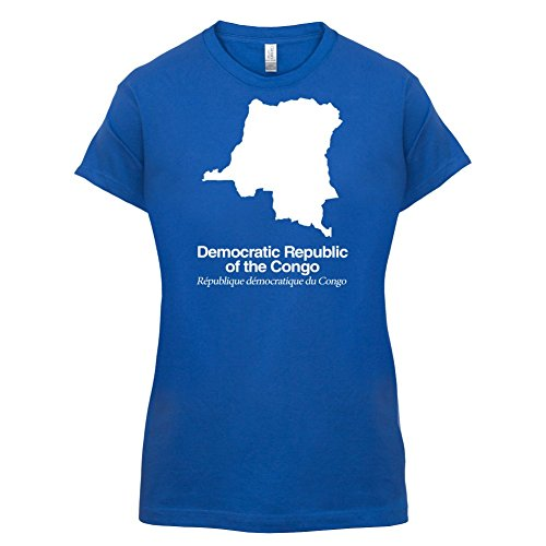 Democratic Republic of the Congo / Demokratische Republik Kongo Silhouette  Damen TShirt Royalblau S