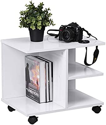 Sep Home White Small Table Coffee Table Storage Wheels For Living
