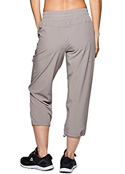 Rbx Active Women's Lightweight Body Cargo Drawstring Woven Pant Khaki M 2